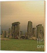 Eerie Stonehenge Wood Print