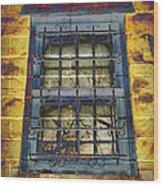 Eerie Window Wood Print