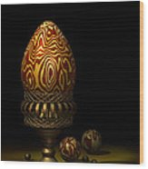 Egg And Marbles Wood Print
