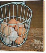 Egg Basket Wood Print
