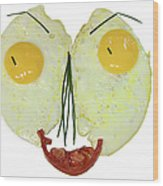 Egg Face Wood Print