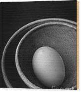 Egg Open Edition Wood Print
