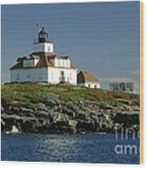 Egg Rock Lighthouse Wood Print by Kathleen Struckle