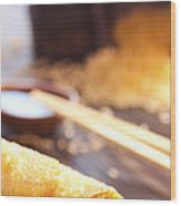 Egg Roll Wood Print by Mythja  Photography