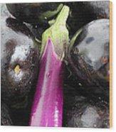 Eggplant I Wood Print