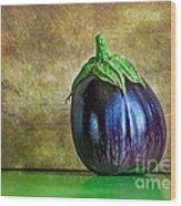 Eggplant Wood Print
