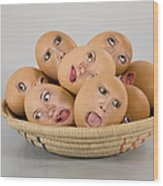 Eggs In A Basket Wood Print