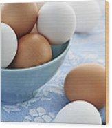 Eggs In Bowl Wood Print