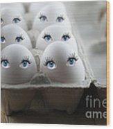 Eggs Wood Print by Juli Scalzi