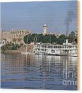 Egypt - Nile Steamboat Wood Print