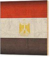 Egypt Flag Distressed Vintage Finish Wood Print
