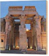 Egypt, Kom Ombo Sunset At The Egyptian Wood Print