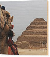 Egypt Step Pyramid Saqqara Wood Print