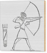 Egyptian Archer And Quiver.  From The Imperial Bible Dictionary, Published 1889 Wood Print