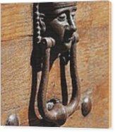 Egyptian Door Knocker Wood Print