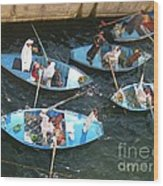 Egyptian Entrepreneurs At The Canal Locks Wood Print