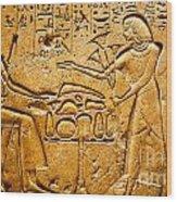 Egyptian Hieroglyphics Wood Print