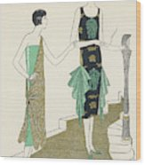Egyptian Influence Wood Print