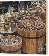 Egyptian Market Stall Wood Print