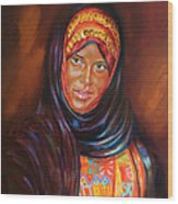 Egyptian Nubian Girl Wood Print