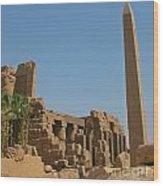 Egyptian Obelisk Wood Print