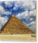 Egyptian Pyramid Wood Print