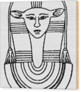 Egyptian Symbol Hathor Wood Print