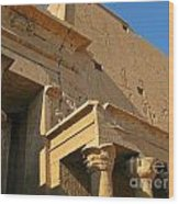 Egyptian Temple Architectural Detail Wood Print
