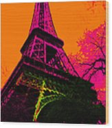 Eiffel 20130115v1 Wood Print by Wingsdomain Art and Photography