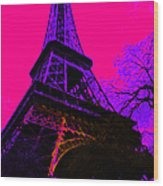 Eiffel 20130115v3 Wood Print by Wingsdomain Art and Photography
