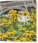 Eiffel Flower Wood Print