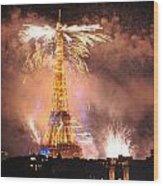 Eiffel Hat Wood Print