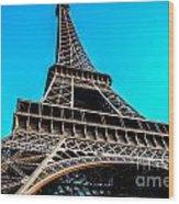 Eiffel In Spring Wood Print