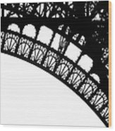 Eiffel Metal Crochet  Wood Print by Rita Haeussler