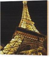 Eiffel Night Wood Print