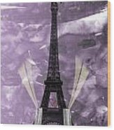 Eiffel Tower - Paris - Love Wood Print