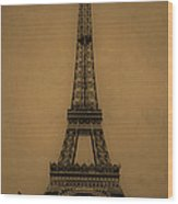 Eiffel Tower 1889 Wood Print by Andrew Fare