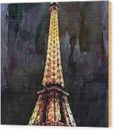 Eiffel Tower-3 Wood Print