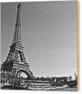 Eiffel Tower And The Seine Wood Print