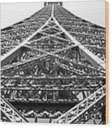 Eiffel Tower Wood Print by Andrea Anderegg