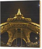 Eiffel Tower At Night Wood Print