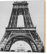 Eiffel Tower Construction Wood Print