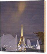 Eiffel Tower Dream Wood Print