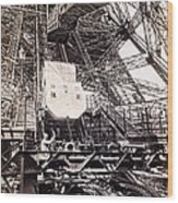 Eiffel Tower Elevator Shop C. 1888 Wood Print