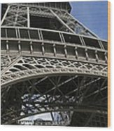 Eiffel Tower First Balcony Wood Print