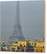 Eiffel Tower From Notre Dame Wood Print