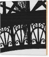 Eiffel Tower Girders Wood Print