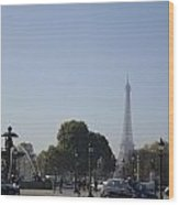Eiffel Tower In The Distance Wood Print