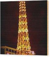 Eiffel Tower Las Vegas Nevada Wood Print