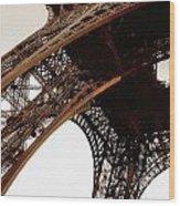 Eiffel Tower Left Leg Wood Print